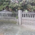 płot betonowy ogrodzenie mycie czyszczenie przed i po